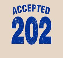 Team shirt - 202 Accepted, blue letters Unisex T-Shirt