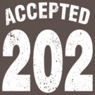 Team shirt - 202 Accepted, white letters by JRon