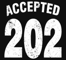 Team shirt - 202 Accepted, white letters Kids Clothes