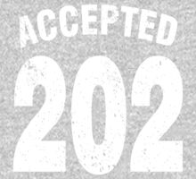 Team shirt - 202 Accepted, white letters One Piece - Long Sleeve