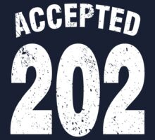 Team shirt - 202 Accepted, white letters Kids Tee