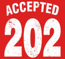 Team shirt - 202 Accepted, white letters One Piece - Short Sleeve