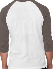 Team shirt - 202 Accepted, white letters Men's Baseball ¾ T-Shirt