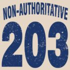 Team shirt - 203 Non-Authoritative, blue letters by JRon