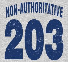 Team shirt - 203 Non-Authoritative, blue letters Kids Clothes