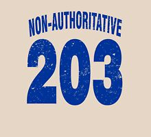 Team shirt - 203 Non-Authoritative, blue letters Unisex T-Shirt