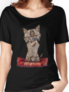 cat lover vintage origami Women's Relaxed Fit T-Shirt