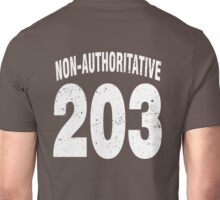 Team shirt - 203 Non-Authoritative, white letters Unisex T-Shirt