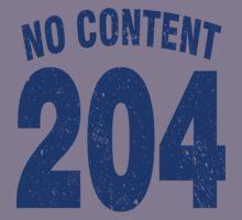 Team shirt - 204 No Content, blue letters Kids Tee