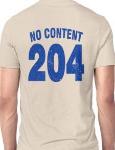 Team shirt - 204 No Content, blue letters Unisex T-Shirt
