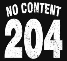Team shirt - 204 No Content, white letters Kids Clothes