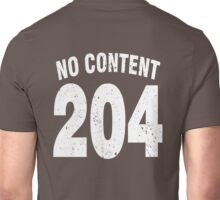 Team shirt - 204 No Content, white letters Unisex T-Shirt
