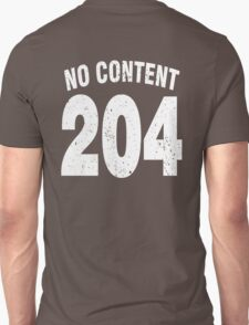 Team shirt - 204 No Content, white letters T-Shirt