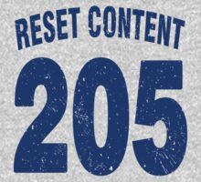Team shirt - 205 Reset Content, blue letters Kids Clothes