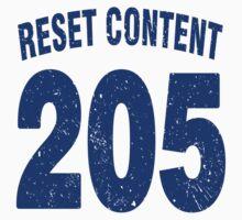 Team shirt - 205 Reset Content, blue letters Kids Tee
