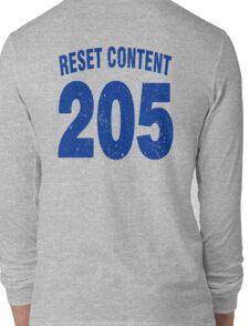 Team shirt - 205 Reset Content, blue letters Long Sleeve T-Shirt