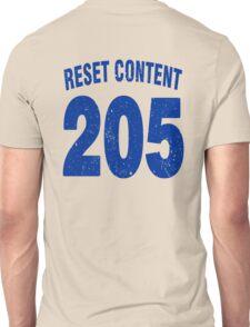 Team shirt - 205 Reset Content, blue letters Unisex T-Shirt