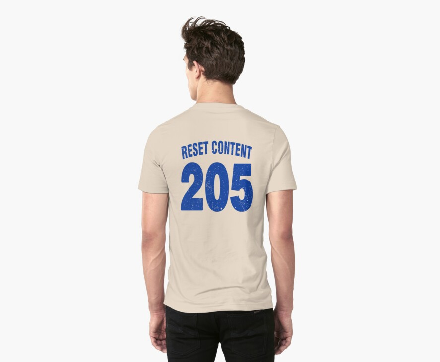 Team shirt - 205 Reset Content, blue letters by JRon