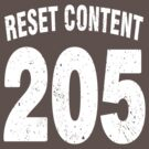 Team shirt - 205 Reset Content, white letters by JRon