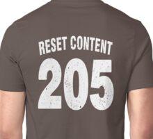 Team shirt - 205 Reset Content, white letters Unisex T-Shirt