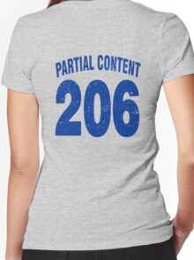 Team shirt - 206 Partial Content, blue letters Women's Fitted V-Neck T-Shirt