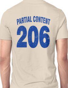 Team shirt - 206 Partial Content, blue letters Unisex T-Shirt
