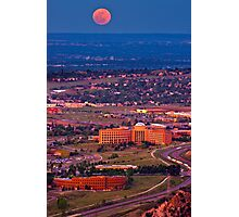 Supermoon Above Golden Photographic Print