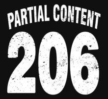 Team shirt - 206 Partial Content, white letters Kids Clothes