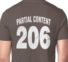 Team shirt - 206 Partial Content, white letters Unisex T-Shirt