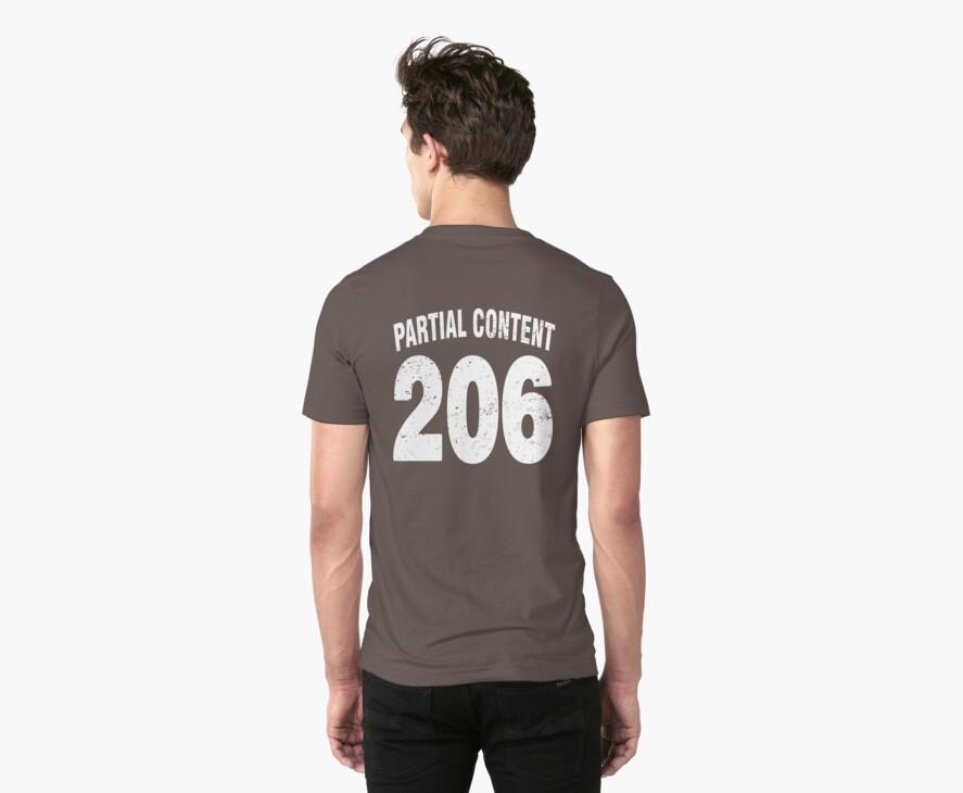 Team shirt - 206 Partial Content, white letters by JRon