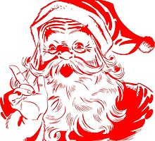 Vintage Red and White Santa Claus by pdgraphics