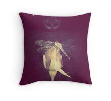 little dragonfly Throw Pillow
