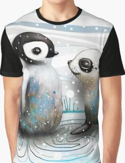 Penguin Chick and Baby Seal Graphic T-Shirt