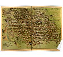Panoramic Maps Birdseye view of Erie Penna 1909 Poster
