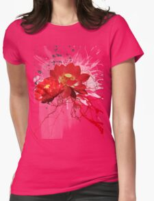 Red lotus flowers Womens Fitted T-Shirt