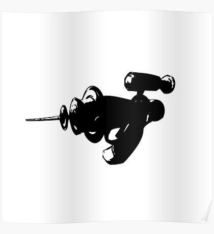 Alien Ray Gun - Black Poster