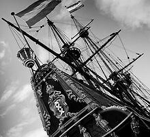 Stern of the Batavia, Lelystad The Netherlands by M. van Oostrum
