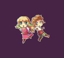 Legend of Zelda Skyward Sword: Chibi Link and Zelda (pixel version) Womens Fitted T-Shirt