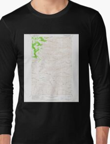 USGS Topo Map Washington State WA Whiskey Dick Mtn 244642 1966 24000 Long Sleeve T-Shirt