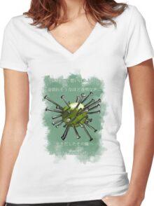 N i j i Women's Fitted V-Neck T-Shirt