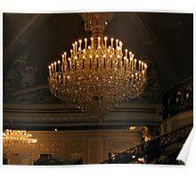 Grand Chandelier in the Ballroom, The Venetian, Garfield NJ Poster