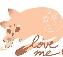 Mouse & Cat: Love me by Angomango
