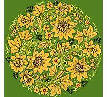 Ethnic sunflower pattern Photographic Print