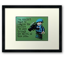 Dispatches from the frontline by Tim Constable Framed Print