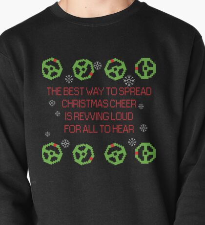 Christmas cheer with steering wheels Pullover