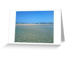 Tide pool with ocean and pier, julianne felton, 5-5-2012 Greeting Card