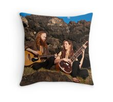 Morning, Music and Moon Throw Pillow