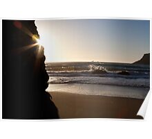 Goat Rock Beach at Sunset Poster