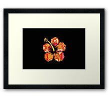 Fun Time Hibiscus Framed Print