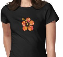 Fun Time Hibiscus Womens Fitted T-Shirt